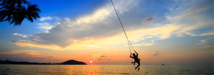 Rope Swing with Koh Samui Sunset